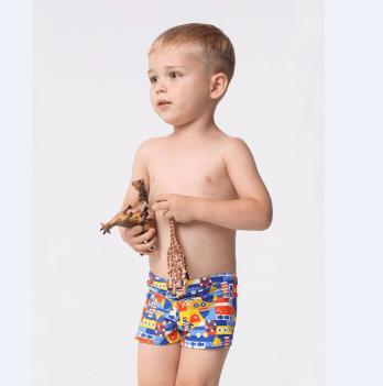 Плавки-шорты для мальчика Keyzi Sailor возраст от 2 до 5 лет синие с рисунком