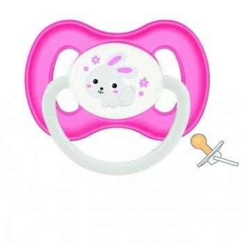 Пустышка латексная круглая Canpol babies Bunny & Company 6-18 мес Розовый 23/278