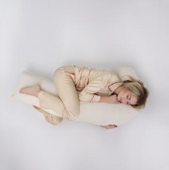 Подушка для беременных модель Г Мои Подушки, наволочка велюр молочный