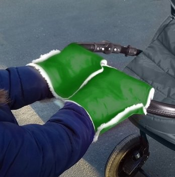 Муфта-трансформер два в одном Winter Muff Ontario Baby ART-0000298 зеленый