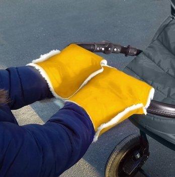 Муфта-трансформер два в одном Winter Muff Ontario Baby ART-0000297 желтый