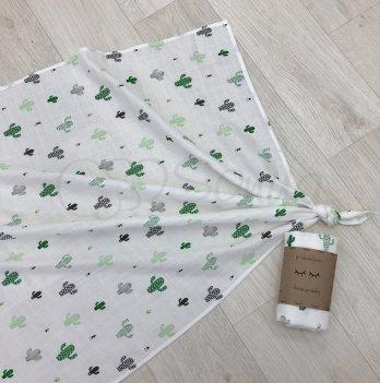 Пеленка муслиновая Маленькая Соня Кактус 4666296 77х100 см