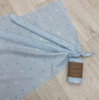 Пеленка муслиновая Маленькая Соня Звезды на голубом 4666293 77х100 см