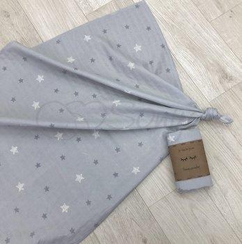 Пеленка муслиновая Маленькая Соня Звезды на сером 4666295 77х100 см