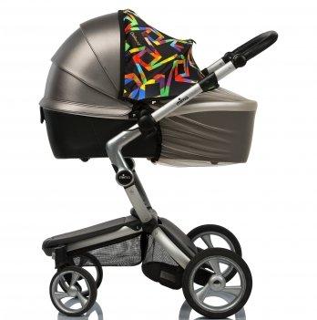 Солнцезащитный козырек на коляску и москитная сетка ДоРечіMust Have Shade ГеометрияЧерный/Бежевый1870G