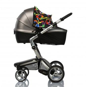 Солнцезащитный козырек на коляску и москитная сетка ДоРечіMust Have Shade ГеометрияЧерный1847G