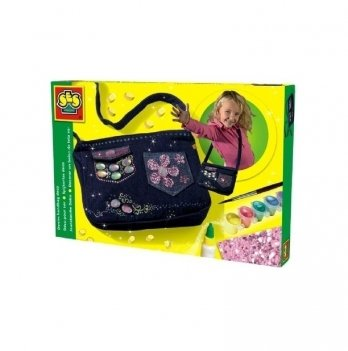 Набор для изготовления сумочки Ses, Модный тренд (сумочка, украшения, краски, кисточка, клей)