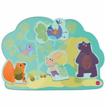Настенная игрушка Oribel Веселый кролик и его друзья