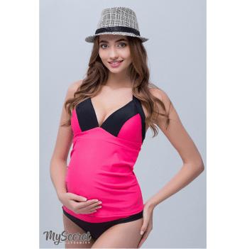 Купальник-танкини для беременных, MySecret, неоновая малина с черным