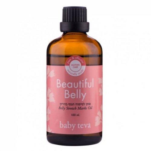Натуральное масло Baby Teva для ухода за кожей живота при беременности и после родов Beautiful Belly