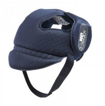 Защитный мягкий шлем-шапочка для детей 8-20 месяцев Okbaby, No Shock, тёмно-синий