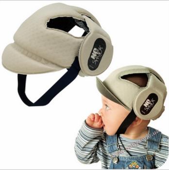 Защитный мягкий шлем-шапочка для детей 8-20 месяцев Okbaby, No Shock, бежевый