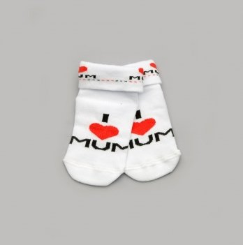 Детские носочки для малышей Модный карапуз I love mum Красный 101-00807