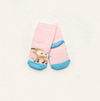 Носки махровые Модный карапуз Олени Розовый 101-00820