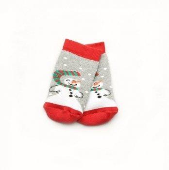 Носки махровые Модный карапуз Снеговик Серый 101-00849