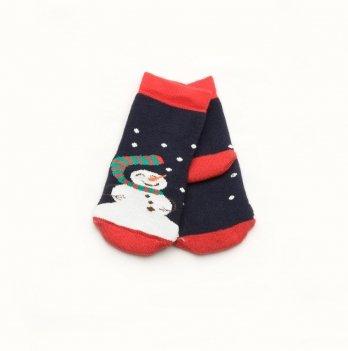 Носки махровые Модный карапуз Снеговик Синий 101-00849