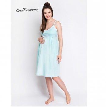 Ночная рубашка для беременных и кормящих мам Creative Mama MINT хлопок