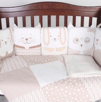 Постельный комплект Veres Smiling animals beige 6 единиц