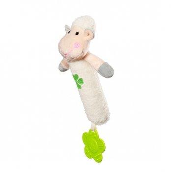 Игрушка-пищалка BabyOno Веселая Овечка, 24,5 см