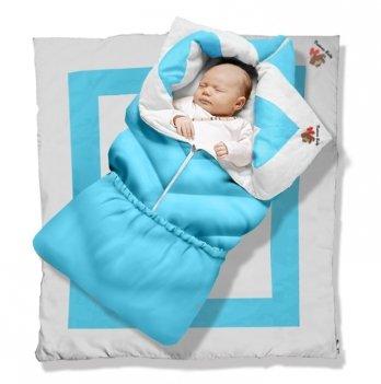 Одеяло-трансформер Долматин Elite Ontario Baby голубой ART-0000057