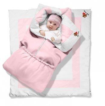 Одеяло-трансформер Котенок Premium Ontario Baby силикон 300, розовый ART-0000054