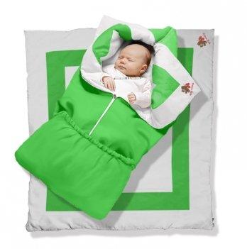 Одеяло-трансформер Lime Green Premium Ontario Baby силикон 300, салатовый ART-0000346
