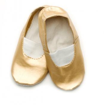 Чешки (кожа+экокожа) детские Модный карапуз, золотистые