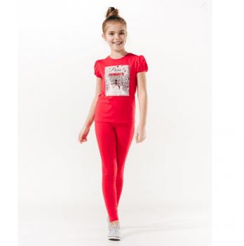 Лосины для девочки Smil от 7 до 10 лет красные