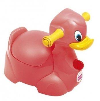 Детский горшок OkBaby Quack с ручками для безопасности ребенка, розовый
