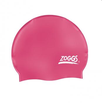Шапочка для плавания Zoggs Silicone Cap, розовая