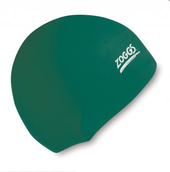 Шапочка для плавания Zoggs Junior Silicone Cap, зеленая