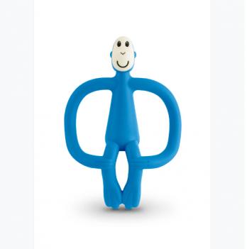 Игрушка-прорезыватель Matchstick Monkey Обезьянка, 10,5 см, синяя