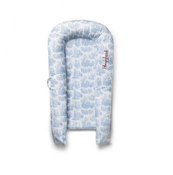 Сменный чехол для матраса-кокона SleepyHead Grand (9-36 мес.), Toile De Jouy Dusty Blue