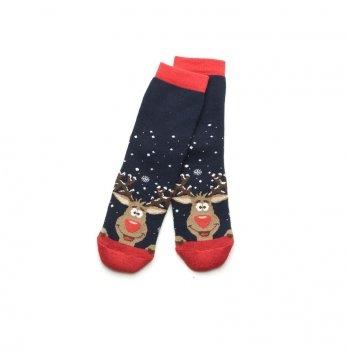 Носки махровые Модный карапуз Олени синий 101-00849
