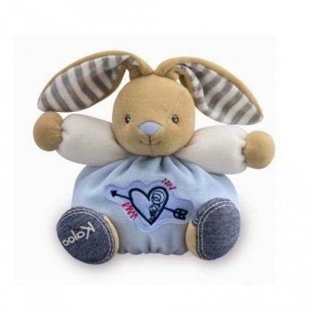 Мягкая игрушка Kaloo Зайчик маленький с сердечком, BLUE DENIM