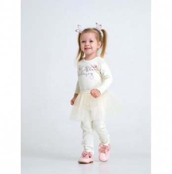 Комплект боди и юбка для девочки интерлок Smil Маленькая балерина Молочный 109980