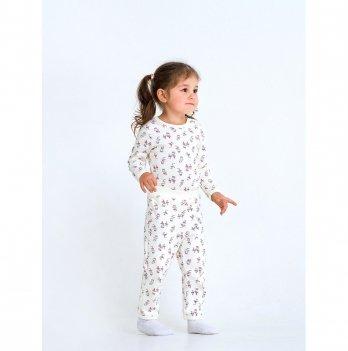 Штанишки для девочки интерлок Smil Маленькая балерина Молочный 107349