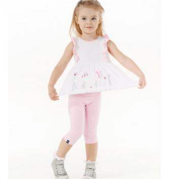 Лосины 3/4 для девочки Smil возраст от 6 до 18 месяцев розовые