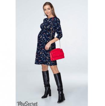 Платье для беременных и кормящих мам MySecret, с цветочным принтом, темно-синее