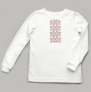 Вышиванка для девочки трикотажная Модный карапуз