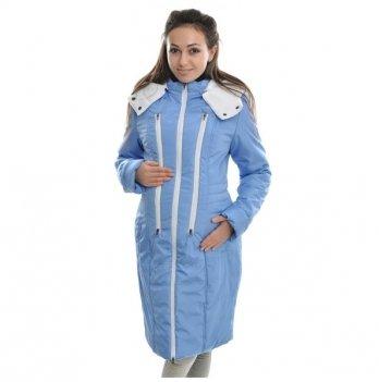 Пальто зимнее 3 в 1, Мamasik, голубое