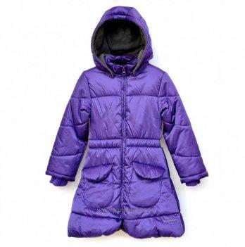 Демисезонное пальто Deux par Deux для девочек X50-2, сиреневое