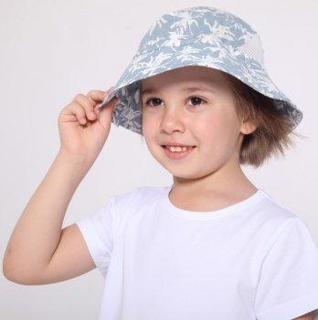 Панама для мальчика Модный карапуз Пальмы Голубой 6-24 мес