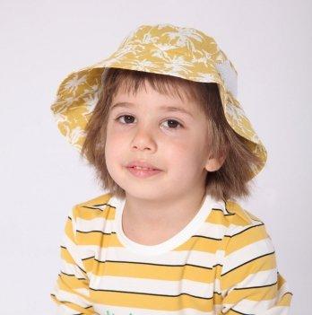 Панама для мальчика Модный карапуз Пальмы Желтый 2-7 лет