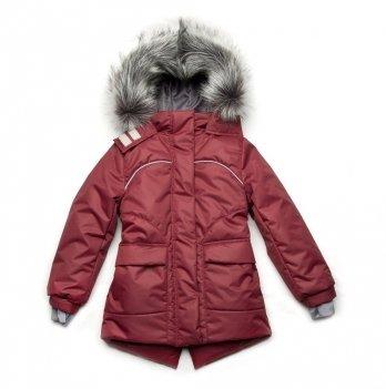 Зимняя куртка для девочки Модный карапуз Бордовый 03-00887