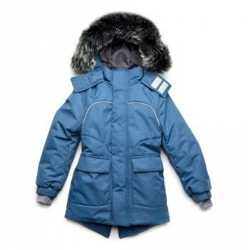 Зимняя куртка для мальчика Модный карапуз Синий 03-00887