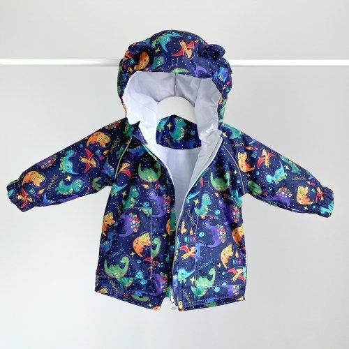 Куртка детская демисезонная ДоРечі Динозавры в космосе Синий/Зеленый 9 мес - 2 года 1962