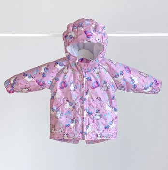 Куртка детская демисезонная ДоРечі Единороги Розовый 9 мес - 2 года 1963