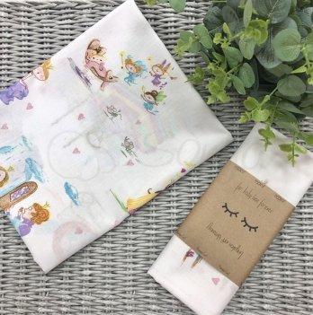 Пеленка бязь Маленькая Соня Сказочные принцессы 466789 80х100 см