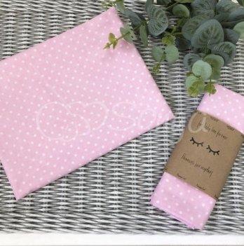 Пеленка бязь Маленькая Соня белые горошки на розовом 4667315 80х100 см